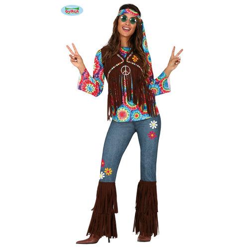 Fiestas Guirca Hippie kostuum dame