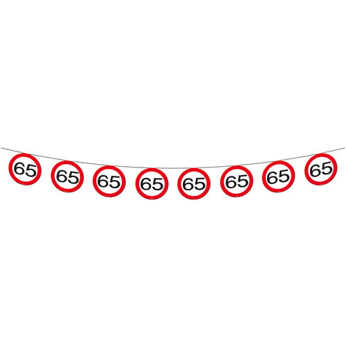 Vlaggenlijn papier Verkeersbord 65