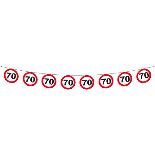 Vlaggenlijn papier Verkeersbord 70