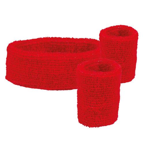 Set 'Zweetbandje + 2 polsbandjes' rood