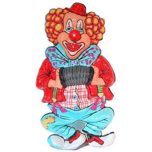Einde reeks Clownsdeco met accordeon 50cm