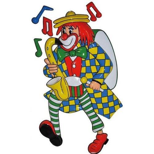 Funny Fashion Deco Clown Saxofoon