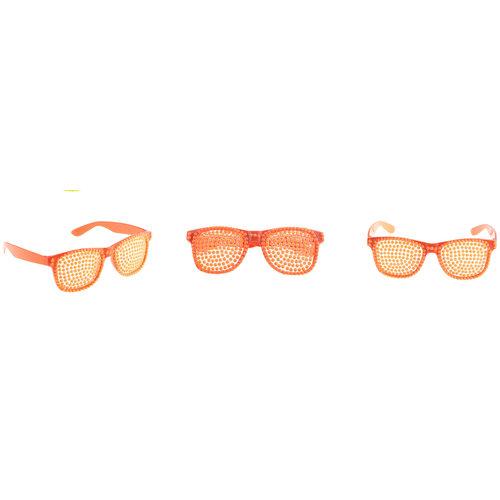 Funny Fashion Bril parels fluo oranje
