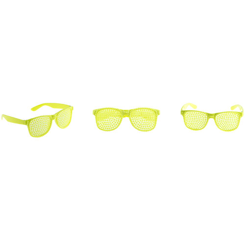 Funny Fashion Bril parels fluo geel