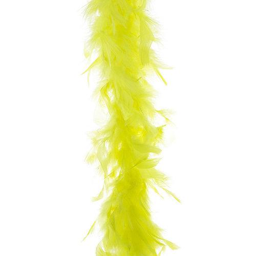 Funny Fashion Boa fluo geel, 45gr