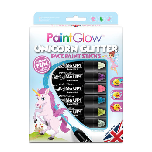 PartyXplosion Box Unicorn Glitter Face Paint Stick