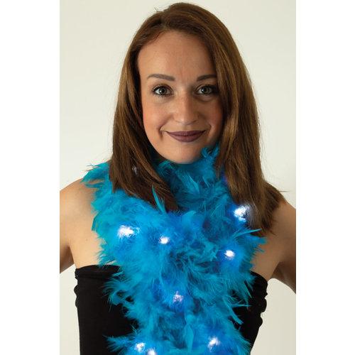 Boa lichtblauw met licht 180 cm. 50 gr.