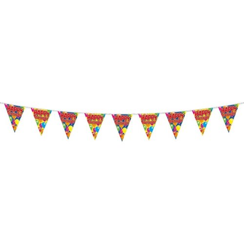 Vlaggenlijn Happy birthday 10mtr