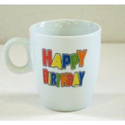 Mok senseo felle kleuren Happy Birthday