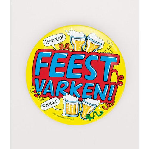 Button XL 'Feestvarken'