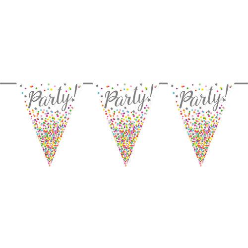 Vlaggenlijn 'Party Confetti' 6 mtr karton