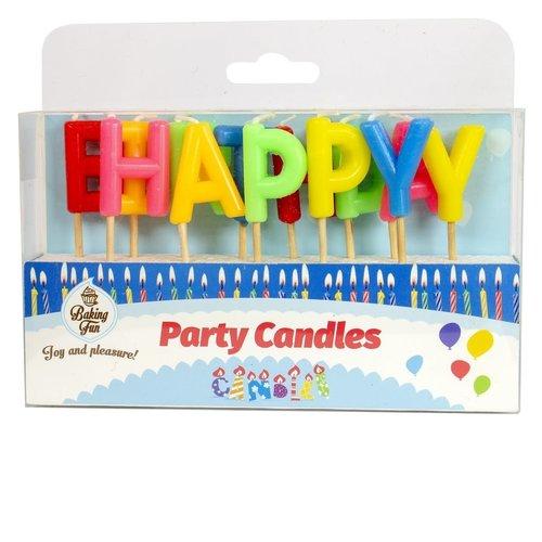 Set van 13 kaarsjes 'Happy Birthday'