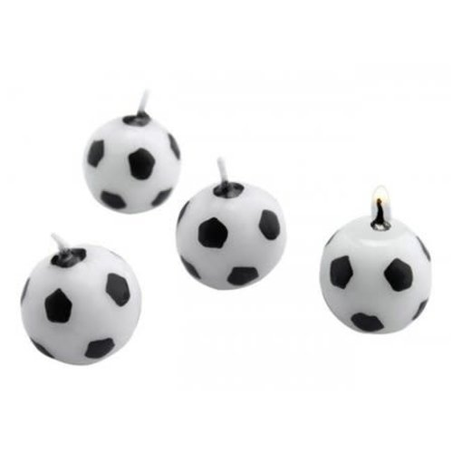 Set van 6 kaarsjes 'Voetbal'