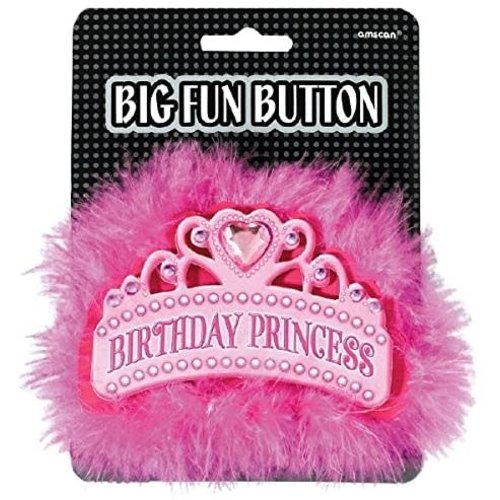 3D Button 'Birthday Princess'