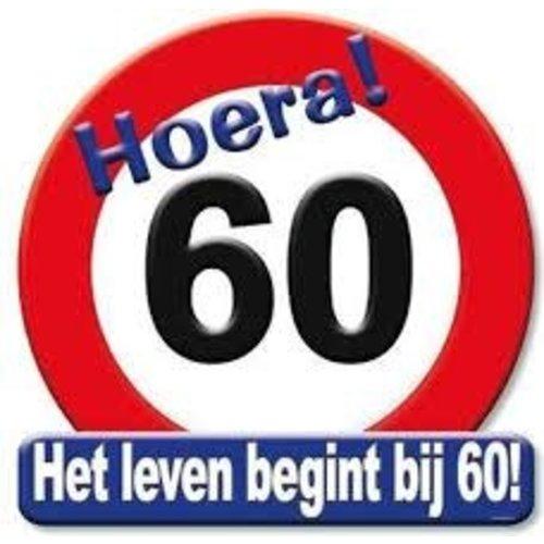 Deco verkeersbord 60 jaar
