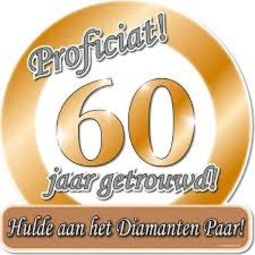 Deco verkeersbord 60 jaar diamant