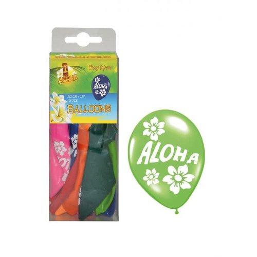 Ballonnen 'Aloha' verkr. in ass kleuren per 12st