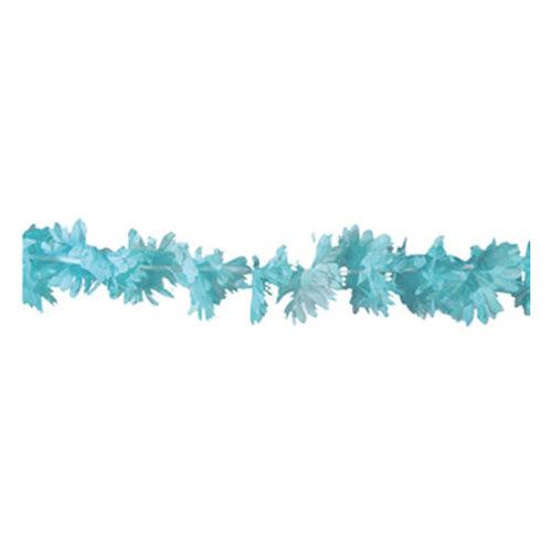 Bloemenguirlande 3m lichtblauw