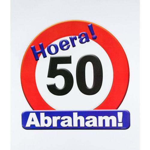 Deco verkeersbord 50 jaar Abraham