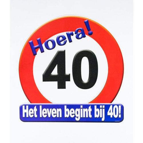 Deco verkeersbord 40 jaar