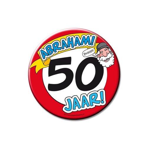 Button XL '50 ABRAHAM'