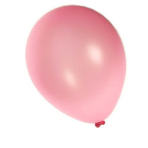 Ballon metallic roze per 50, 30cm