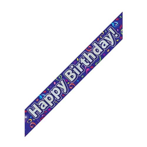 Banner Happy Birthday holografisch 2.7mtr