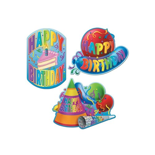 Deco Happy Birthday papier 3ass