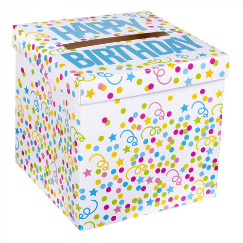 Boland Enveloppendoos 'Happy Birthday' (20 x 20 cm)