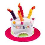 Boland Hoed Cream cake 'Happy Birthday' 3 kleuren ass.