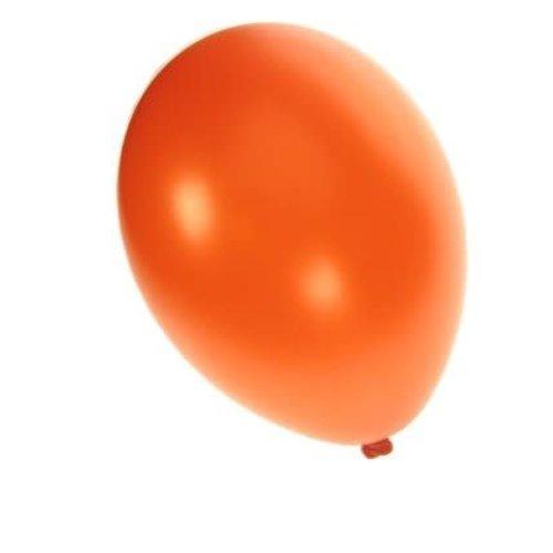Ballon metallic oranje per 50, 30cm