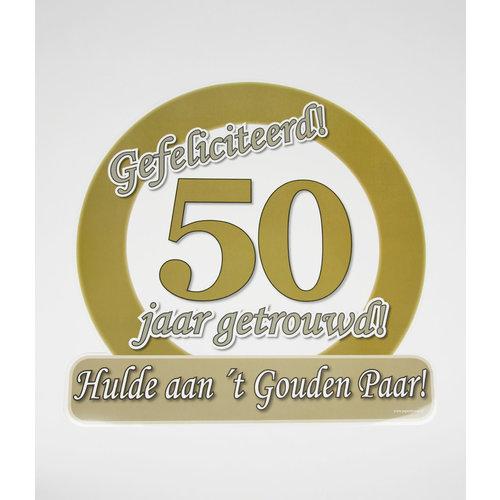 Deco verkeersbord 50 jaar goud