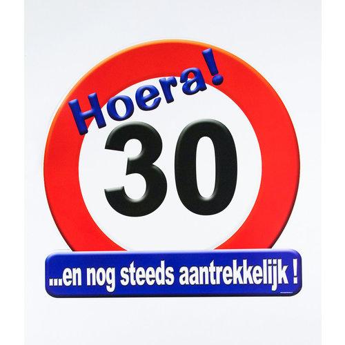 Deco verkeersbord 30 jaar