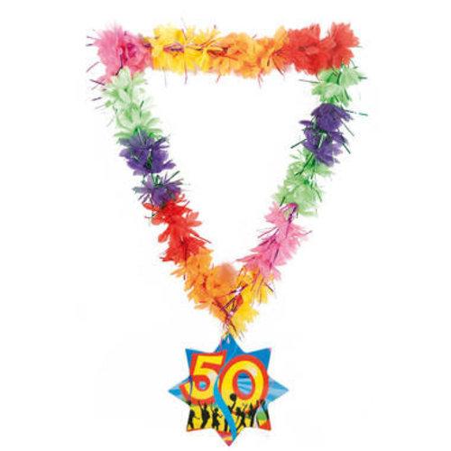 Hawaïkrans  tinsels '50 jaar' ass kl