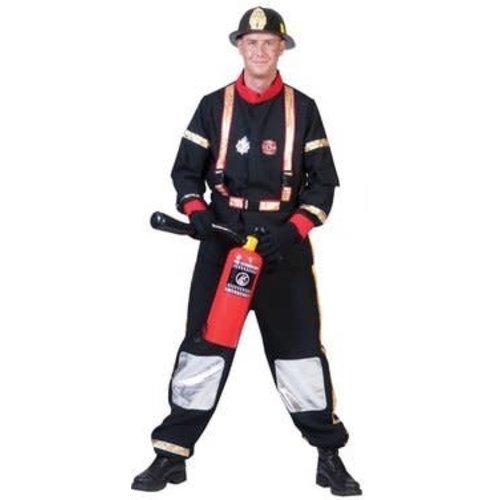 Funny Fashion Brandweerman zwart