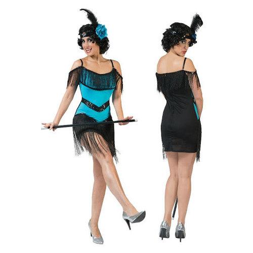 Funny Fashion Charleston Fuchsia blauw
