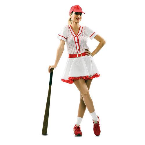 Fyasa Baseball dame rood/wit