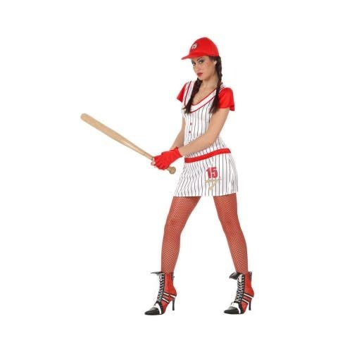 Baseball dame wit/rood