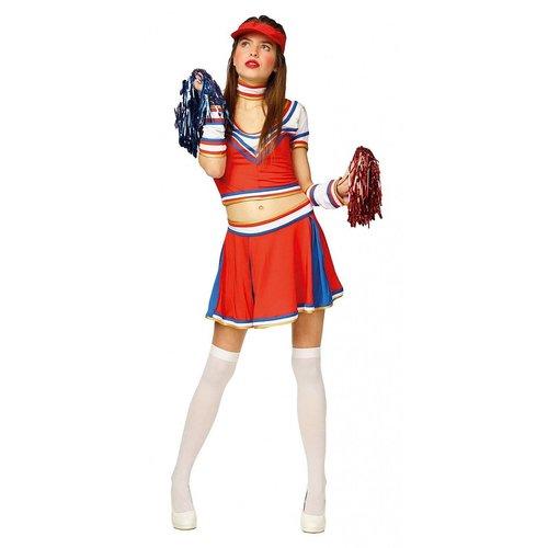 Cheerleader rood/wit/blauw