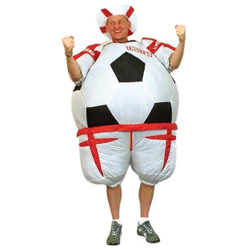 Voetbal opblaasbaar kostuum England