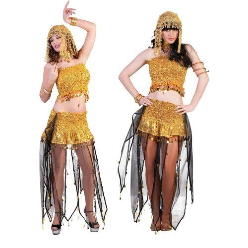 Funny Fashion Arabische danseres goud/zwart