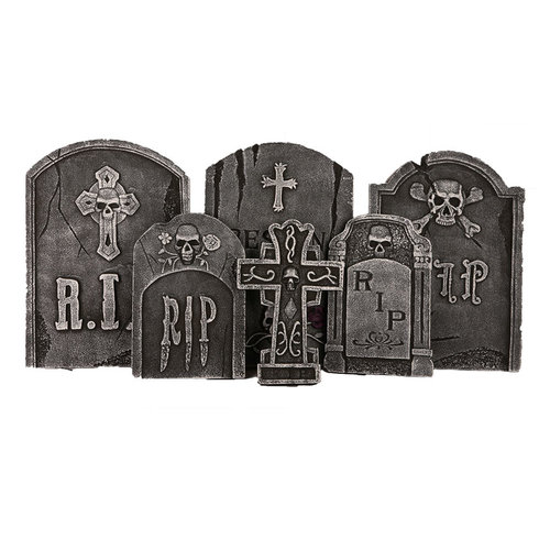 Deco 'Halloween' grafzerken per 6st 52x33cm