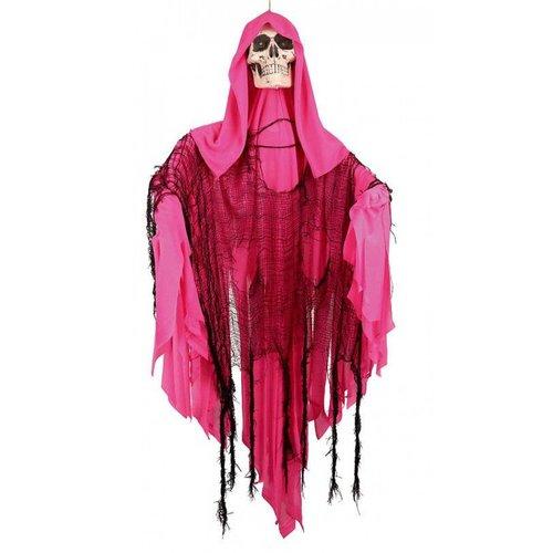 Deco 'Skull roze' shaking, 110cm