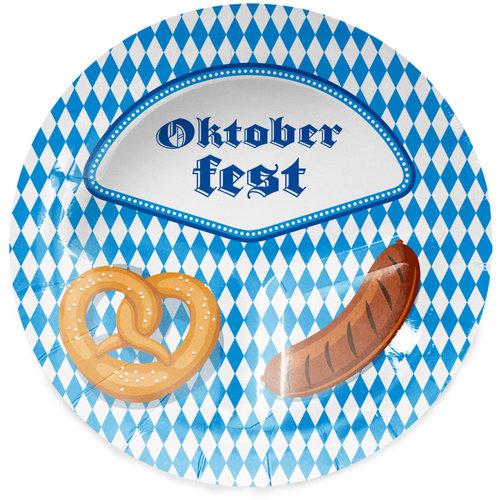 Borden 'Oktoberfest' per 8st, 23cm