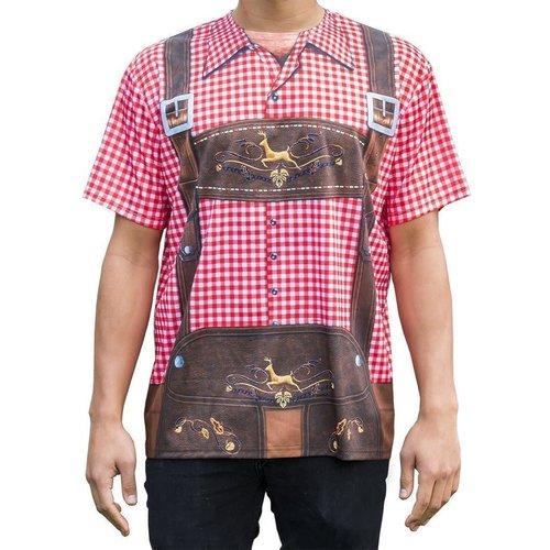 Bedrukt shirt lederhose