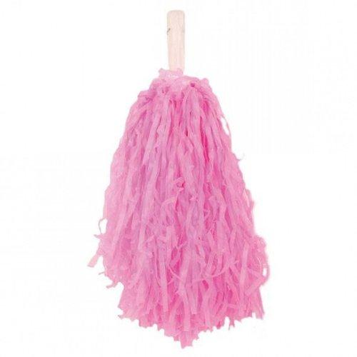 Cheerball roze met stokje per stuk