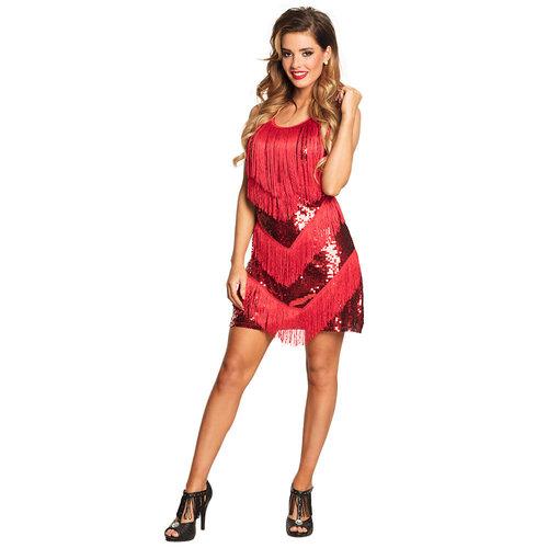 Charleston Flapper dress  rood