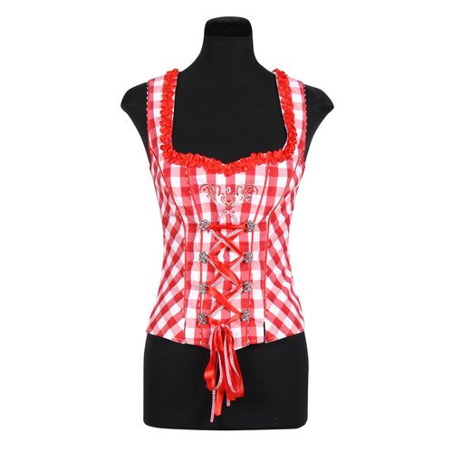 Bustier Helena rood-wit
