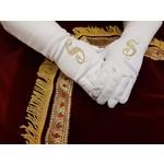 Feestshop.be Sint handschoenen gouddraad S-borduring