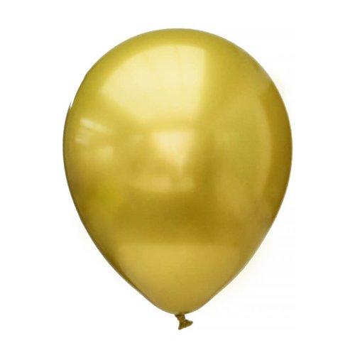 Ballon platinum Chrome 11 inch, per 12st goud